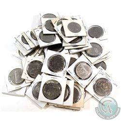 *Estate Lot 1968-1987 Canada Nickel Dollar Collection in Cardboard Holders. You will receive at Leas