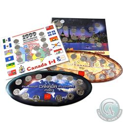 1999/2000 Canada Millennium 25-cent Sets. You will receive 2x 1999 & 2x 2000 25-cent sets. 4pcs.