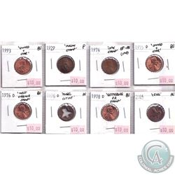 Estate lot 1929-2004 United States Counter Stamp 1-cent Collection. You will receive 8 coins in this