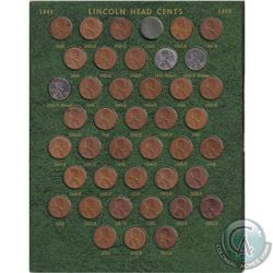 Estate lot of Canada and USA 1-cents. You will receive 41x USA 1-cent dated between 1940-1953 (missi