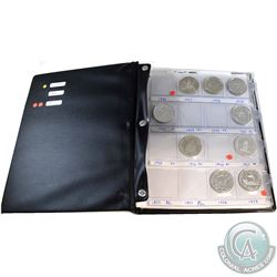 Estate Lot 1971-2014 Canada Commemorative silver Dollar Collection in presentation album. You will r
