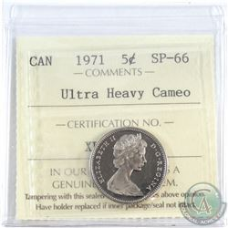 5-cent 1971 ICCS Certified SP-66 Ultra Heavy Cameo