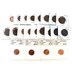 Estate lot of Canada 1-cent coins dated between 1876-2012. lot includes 1876, 1888, 19