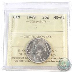 1949 Canada 25-cent ICCS Certified MS-64