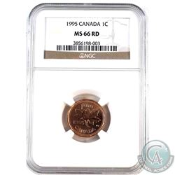 1995 Canada 1-cent NGC Certified MS-66 Red