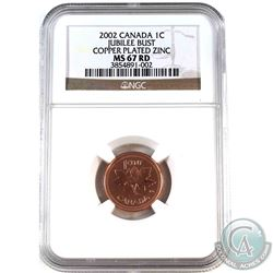 2002 Jubilee  1-cent NGC Certified MS-67 Red