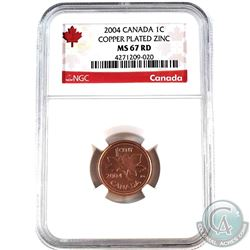 2004 Canada 1-cent NGC Certified MS-67 Red
