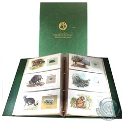 * 1980 World Wildlife Fund 'Animals of the World Stamp Collection' in Green Binder. This set feature