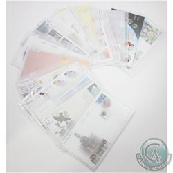 Estate Lot of 2003 Canada First Day Covers Inside of Plastic or Wax Paper Sleeves. You will receive