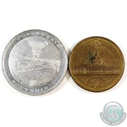 Medal: Pair of 1893 World's Fair, Columbian Exposition Chicago commemorative Medals (2pcs). Lot incl