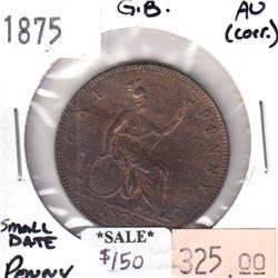 Great Britain 1866 Farthing AU-UNC (AU-55) spots