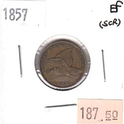 1857 USA Cent Extra Fine (EF-30) scratched