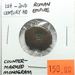 Roman Empire (1st - 2nd Century) AD Counter-Marked Monogram