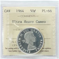 50-cent 1964 ICCS Certified PL-66 Ultra Heavy Cameo