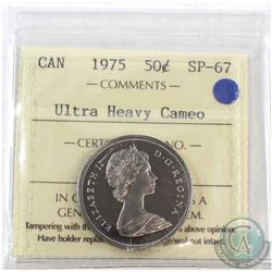 1975 Canada 50-cent ICCS Certified SP-67 Ultra Heavy Cameo
