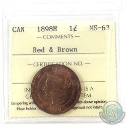 1898H Canada 1-cent ICCS Certified MS-63 Red and Brown