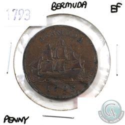 Bermuda 1793 Penny Extra Fine