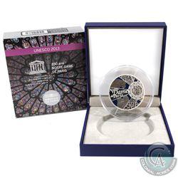 France Paris 2013 50 Euro 850th Anniversary of Notre Dame de Paris Sterling Silver Commemorative Coi