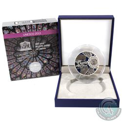 France Paris 2013 50 Euro 850th Anniversary of Notre Dame de Paris Sterling Silver Commemorative Coi