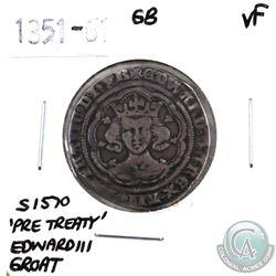 Great Britain 1351-61 'Pre-Treaty' Edward III Groat Very Fine