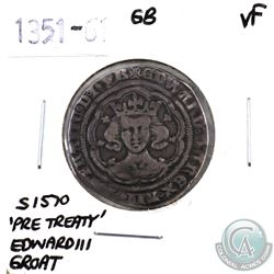 Great Britain 1351-61 'Pre-Treaty' Edward III Groat Very Fine