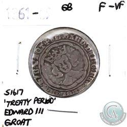 Great Britain 1361-69 'Treaty Period' Edward III Groat F-VF