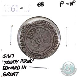 Great Britain 1361-69 'Treaty Period' Edward III Groat F-VF