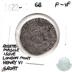 Great Britain 1422-61 Rosette-Mascle Issue London Mint Henry VI Groat F-VF