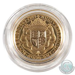 Great Britain 1489-1989 500th Anniversary Gold Sovereign Proof. Comes with original packaging and CO
