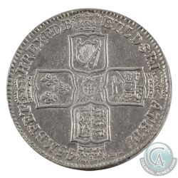 Great Britain 1745 'Lima' George II 1/2 Crown Extra Fine