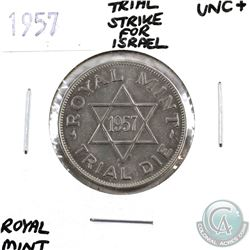 Great Britain 1957 Trial Strike Die produced by the Royal Mint for Israel