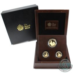 Great Britain 2012 London Olympiad Citius, Altius, Fortius 3-coin 22K Gold Commemorative Set in beau