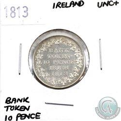 Ireland 1813 Bank Token 10 Pence UNC+