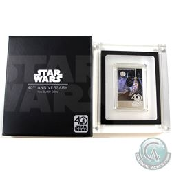 New Zealand Mint Issue: 2017 $2 Niue Star Wars A New Hope 40th Anniversary 1oz Fine Silver Coin (Tax