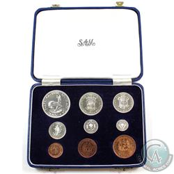 South Africa 1956 Proof Set with original case of issue. Pristine condition!