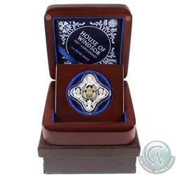 Tokelau 2017 $1 House of Windsor 100th Anniversary 1oz Fine Silver Proof Coin with Gold Plating in D
