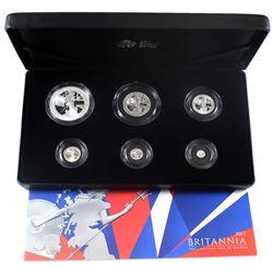 United Kingdom 2017 The Britannia 6-Coin Fine Silver Proof Set (TAX Exempt).