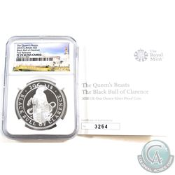 United Kingdom 2018 2 Pound The Queen's Beasts - Black Bull of Clarence Fine Silver Coin NGC Certifi