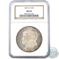 USA 1881CC Silver $1 NGC Certified MS-63