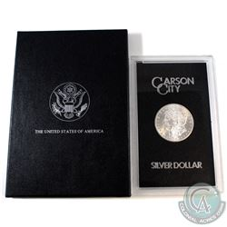 USA 1882CC Silver $1 Morgan GSA Hoard Better Key Carson City Coin Box/Cert BU