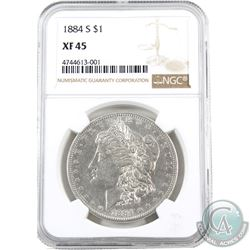 USA 1884 Silver $1 NGC Certified XF-45