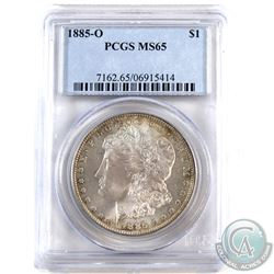USA 1885O Silver $1 PCGS Certified MS-65