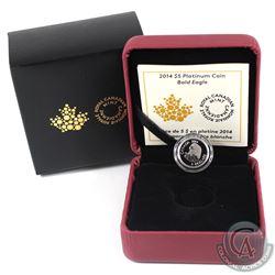 Canada 2014 $5 Bald Eagle Platinum Coin (Tax Exempt).