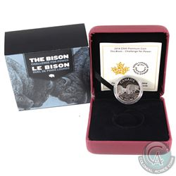 Canada 2014 Canada $300 The Bison - Challenge for Power .9995 Platinum Coin (TAX Exempt)