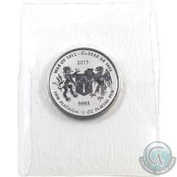 Canada 2017 Platinum 1/2 oz. War of 1812 Commemorative .9995 Fine (Tax Exempt)
