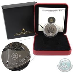 Canada 2005 $50 1oz Palladium Test Coin A in Original Packaging (capsule lightly scratched) Tax Exem