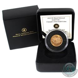 Canada 1913 $5 Premium Hand-Selected Goin Coins - Canada's First Gold Coins issued by the RCM in pre