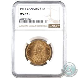 Canada 1913 $10 Gold NGC Certified MS-62+