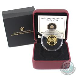 Canada 2012 $10 The War of 1812 1/4oz Fine Gold Coin (Tax Exempt).