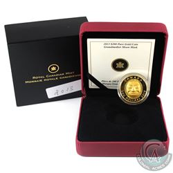 Canada 2013 $200 Grandmother Moon Mask Fine Gold Coin (Tax Exempt).